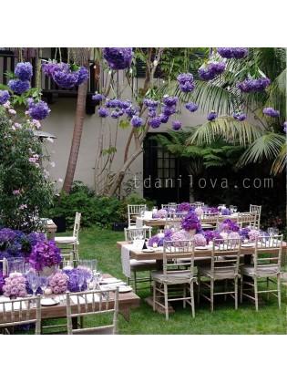 Свадебное оформление в лиловых тонах
